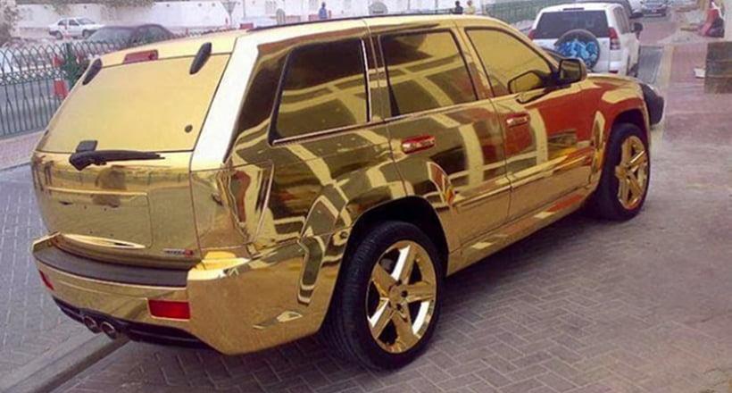 Luxurious Lifestyle of Dubai - gold car