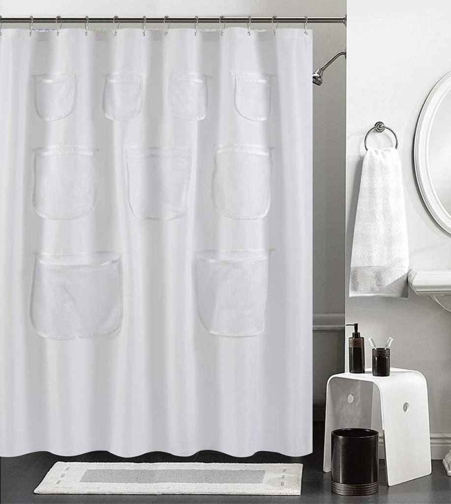 Deluxe Heavy Weight Shower Curtain Liner Rose Pink