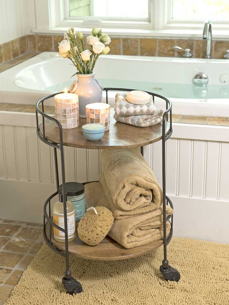 redesign a small bathroom 2020 - small table