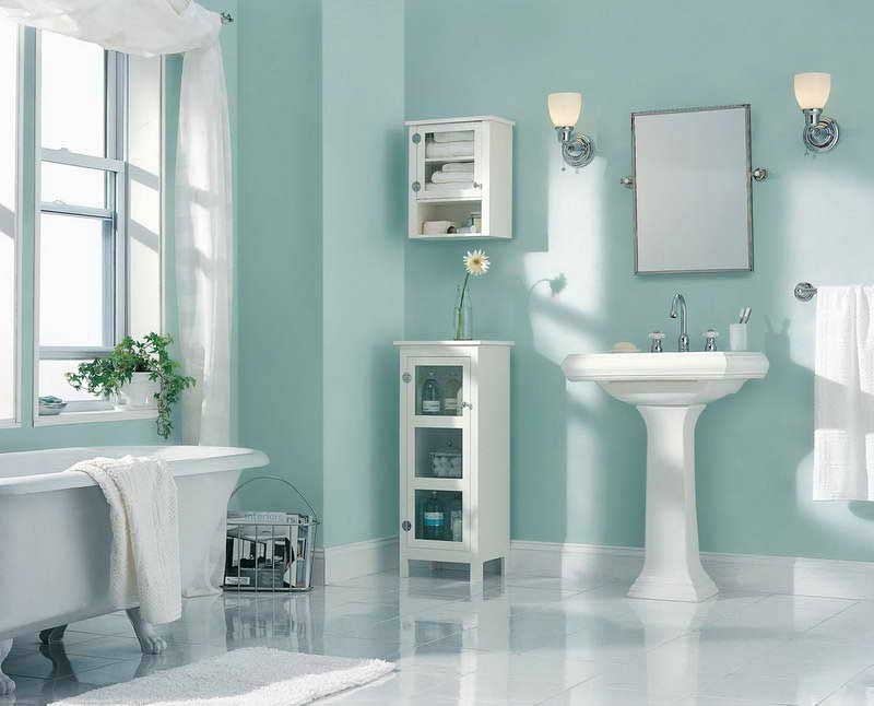 redesign a small bathroom 2020 - wall painting